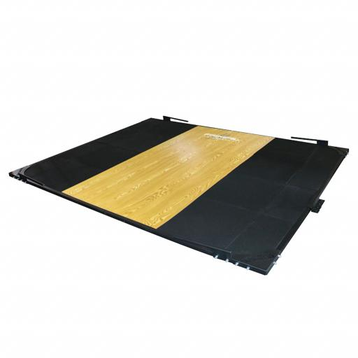 Primal Strength Olympic Weight Lifting Platform with Steel Frame and Band Hooks