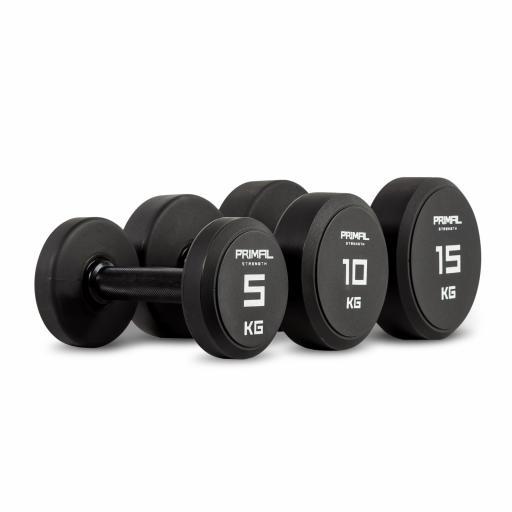 Primal Strength Urethane Dumbbell Set 2.5kg-25kg (10 pairs)