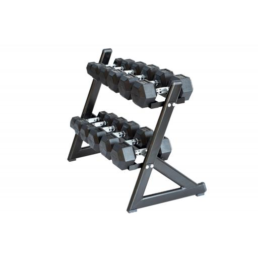 6 Pair Hex Dumbbell Set With Stand (2.5KG – 15KG)