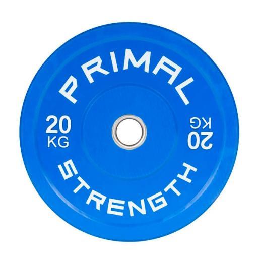 Primal Strength Rebel Commercial Fitness Elite Blue Colour Bumper 20kg (Single)