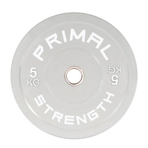 Primal Strength Rebel Commercial Fitness Elite Grey Colour Bumper 5kg (Single)