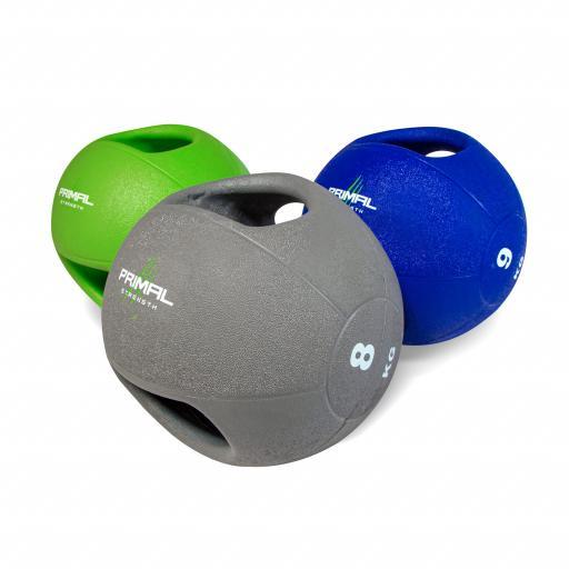 Primal Strength Double Handle Medicine Ball