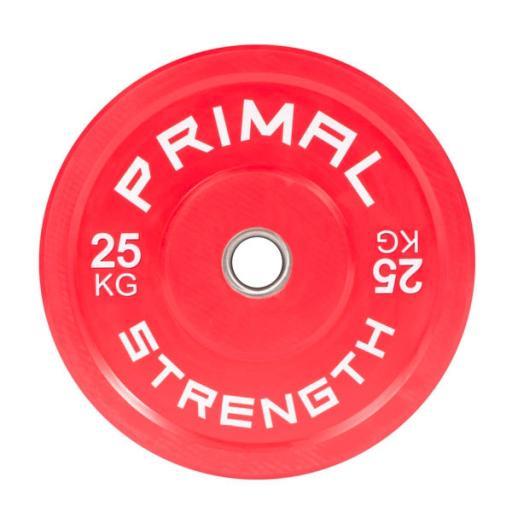 Primal Strength Rebel Commercial Fitness Elite Red Colour Bumper 25kg (Single)