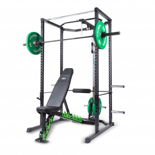 Primal Strength Primary V2 Home Power Rack with Lat Pulldown/Low Row