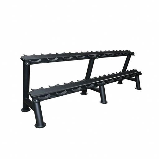 Primal Strength Stealth Commercial Fitness 10 Pair Dumbbell Rack (Matte Black)