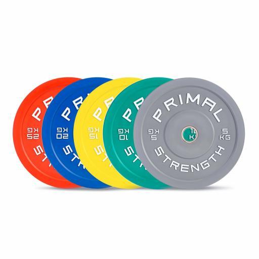 Primal Strength Rebel Commercial Fitness Elite Colour Bumper Set 150kg