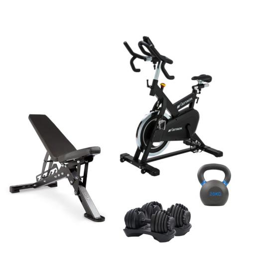 Attack Spin, Bench, Dumbbell &Kettlebell Package