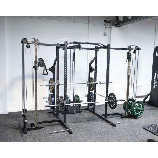 Primal Strength Home Series Ultimate Package with Cable Cross Lat Low, Bench and 120 Kg Eco Set