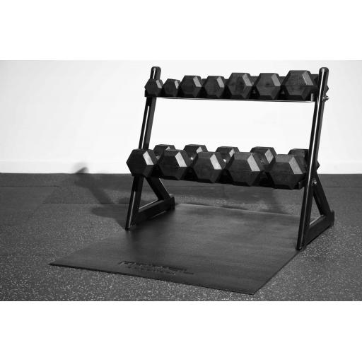 Primal Strength 2.5kg-15kg Hex Set And Rack With Mat